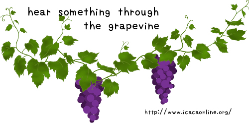hear something through the grapevine